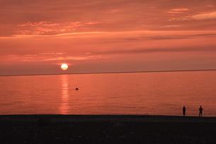 夕陽の写真素材 [FYI01201581]