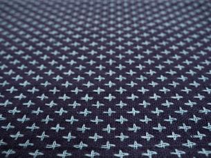 刺し子の布の写真素材 [FYI01201948]