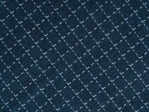 刺し子の布の写真素材 [FYI01201953]