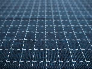 刺し子の布の写真素材 [FYI01201955]