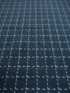 刺し子の布の写真素材 [FYI01201956]