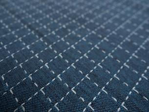 刺し子の布の写真素材 [FYI01201958]