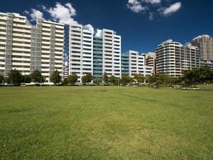 幕張の高層マンション街の写真素材 [FYI01201966]