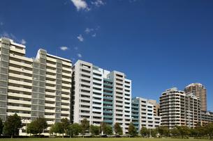 幕張の高層マンション街の写真素材 [FYI01201969]