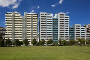 幕張の高層マンション街の写真素材 [FYI01201970]