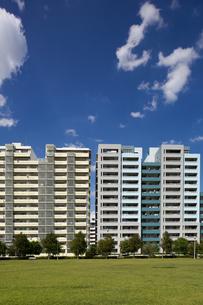 幕張の高層マンション街の写真素材 [FYI01201971]