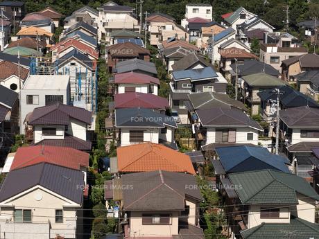 住宅街の写真素材 [FYI01202367]