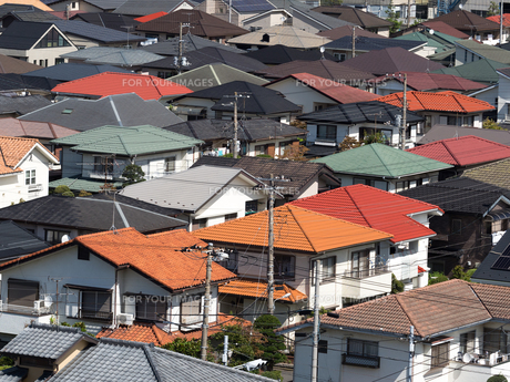住宅街の写真素材 [FYI01202378]