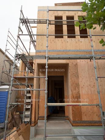 住宅建設現場の写真素材 [FYI01202874]