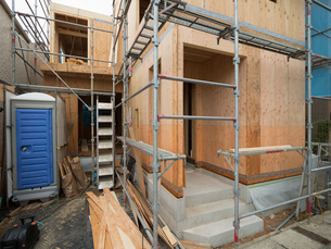 住宅建設現場の写真素材 [FYI01202876]