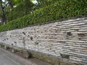 瓦塀の写真素材 [FYI01202957]