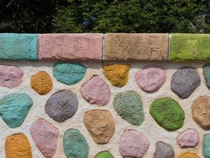 カラフルな壁の写真素材 [FYI01202966]