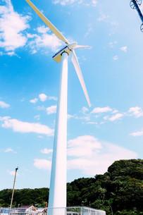晴れと風車の写真素材 [FYI01203335]
