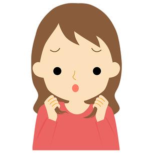 ヘアケアをする女性のイラスト素材 [FYI01203351]