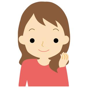 笑顔の女性のイラスト素材 [FYI01203377]