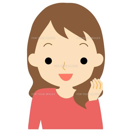 笑顔の女性のイラスト素材 [FYI01203378]