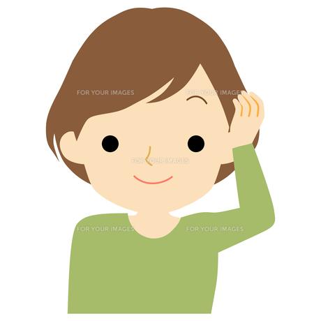 笑顔の女性のイラスト素材 [FYI01203522]