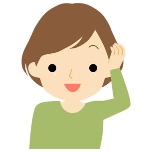 笑顔の女性のイラスト素材 [FYI01203523]