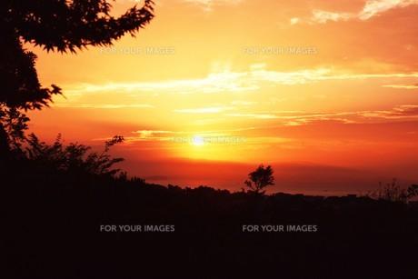夜明けの色 ・ この地球では いつもどこかで 朝が始まっている…(谷川俊太郎 「朝のリレー」より)の写真素材 [FYI01203578]