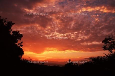 夜明けの色 ・ この地球では いつもどこかで 朝が始まっている…(谷川俊太郎 「朝のリレー」より)の写真素材 [FYI01203582]