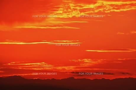 夜明けの色 ・ この地球では いつもどこかで 朝が始まっている…(谷川俊太郎 「朝のリレー」より)の写真素材 [FYI01203583]