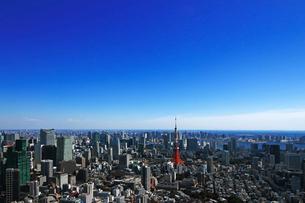 東京タワーと東京の風景の写真素材 [FYI01203928]