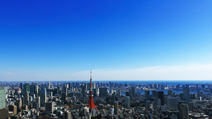 東京タワーと東京の風景の写真素材 [FYI01203929]