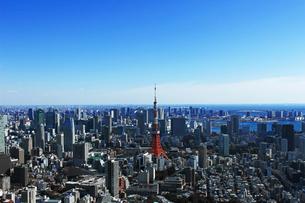 東京タワーと東京の風景の写真素材 [FYI01203932]