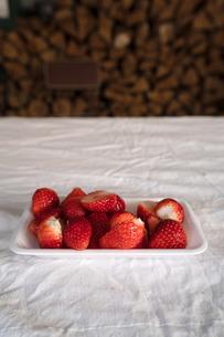 冬のイチゴの写真素材 [FYI01203935]