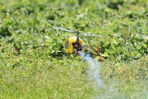 ラジコンヘリコプターのテスト飛行の写真素材 [FYI01203955]