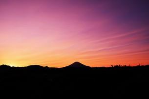 富士山夕景 ・ 日本のシンボル 世界文化遺産の写真素材 [FYI01204005]