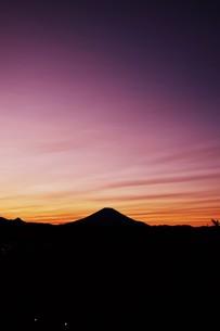 富士山夕景 ・ 日本のシンボル 世界文化遺産の写真素材 [FYI01204007]