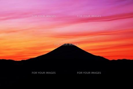 富士山夕景 ・ 日本のシンボル 世界文化遺産の写真素材 [FYI01204008]