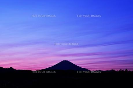 富士山夕景 ・ 日本のシンボル 世界文化遺産の写真素材 [FYI01204009]