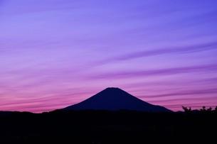 富士山夕景 ・ 日本のシンボル 世界文化遺産の写真素材 [FYI01204011]