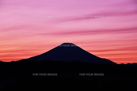 富士山夕景 ・ 日本のシンボル 世界文化遺産の写真素材 [FYI01204012]