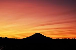 富士山夕景 ・ 日本のシンボル 世界文化遺産の写真素材 [FYI01204014]