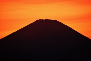 富士山夕景 ・ 日本のシンボル 世界文化遺産の写真素材 [FYI01204015]
