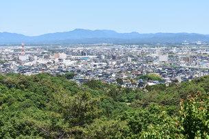 上越市 桜ロードの展望台からの写真素材 [FYI01205161]
