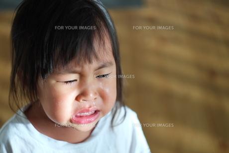 子供の泣顔の写真素材 [FYI01205277]