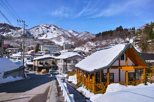 冬の蔵王温泉の写真素材 [FYI01205504]