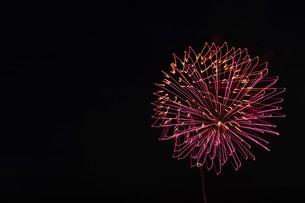 花火大会 ・ 君がいた夏は 遠い夢の中 空に消えてった打ち上げ花火…(Whiteberry 夏祭り より)の写真素材 [FYI01205921]