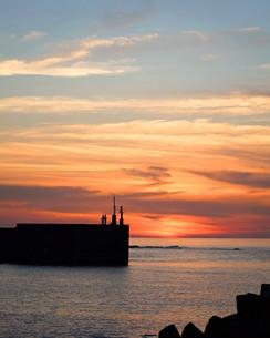 夕景の海の写真素材 [FYI01206542]