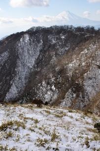 冬の丹沢と富士山の写真素材 [FYI01206715]
