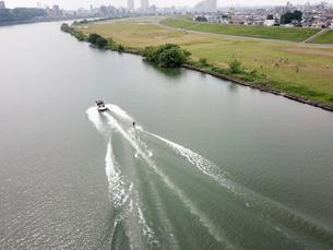 江戸川上空の風景の写真素材 [FYI01207429]