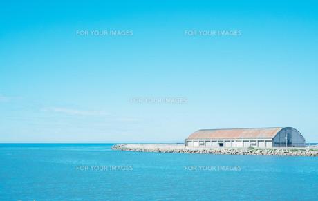 日本海の水平線の写真素材 [FYI01207439]