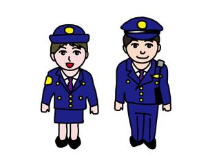 制服の警察官のイラスト素材 [FYI01207673]