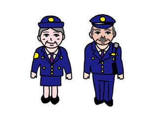 制服のシニア警察官のイラスト素材 [FYI01207676]
