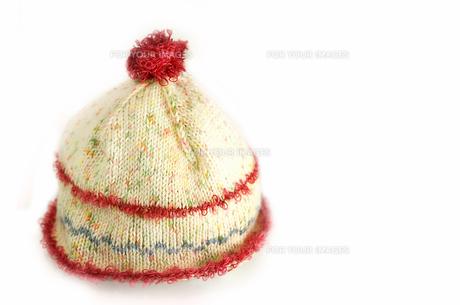 手編みのニット帽の写真素材 [FYI01208041]