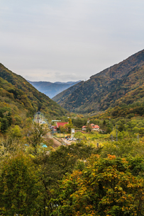 秋の水上町の風景の写真素材 [FYI01208264]